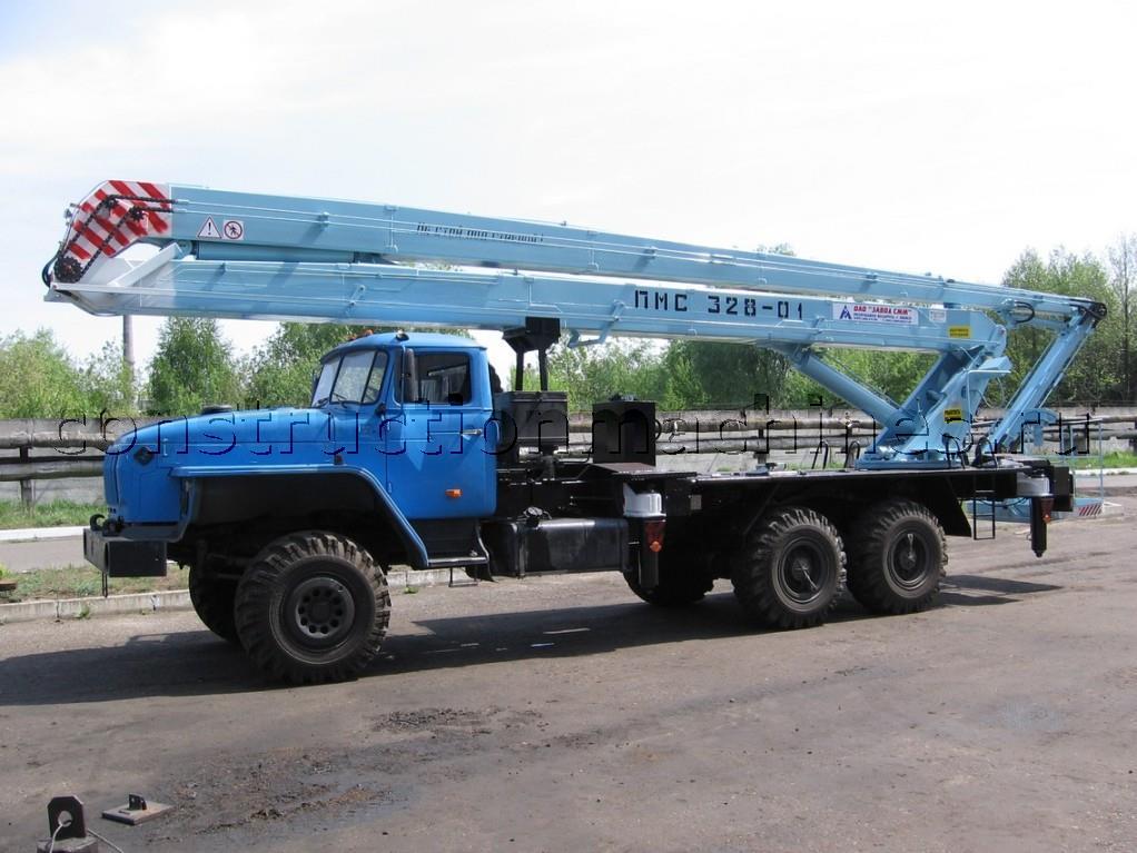 Автогидроподъемник ПМС 328-01 на базе шасси Урал 4320-19