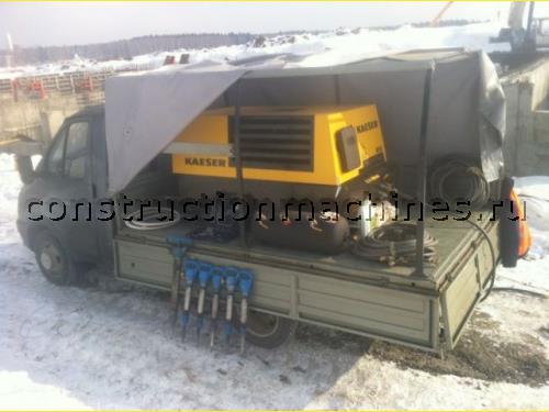 Аренда компрессора с отбойными молотками в Московской области.