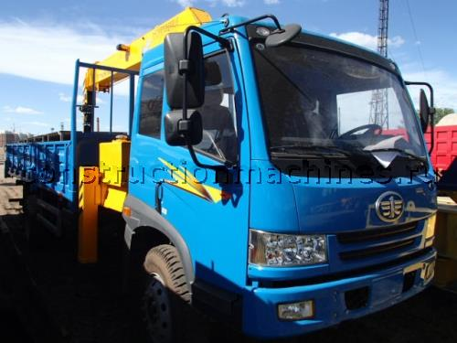 Кран манипулятор 8 тонн на базе грузовика FAW 6x4