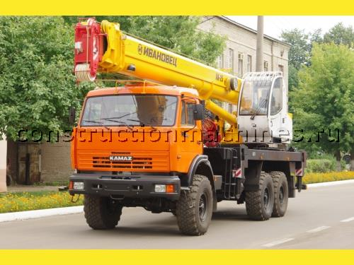 "Продам новый автокран ""Ивановец"" КС-45717К-3Р, на шасси КАМАЗ-43118 (6х6), 25 тн., стрела 30,7"