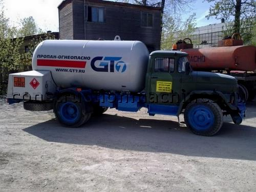 Газозаправщик АЦТ 8 МУ на шасси Зил