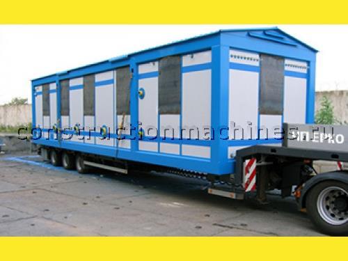 Перевозка бытовок по Киеву, услуги автокрана 10 тонн и 25 тонн.