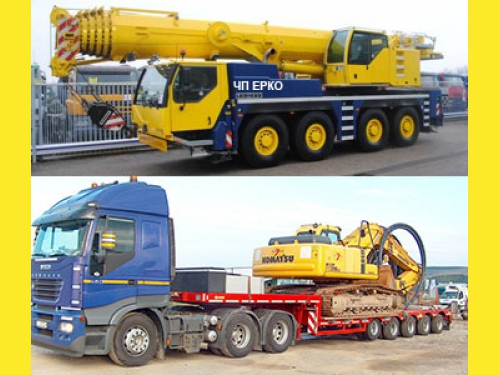 Негабаритные перевозки, аренда автокранов по Украине от 40 до 400 тонн.