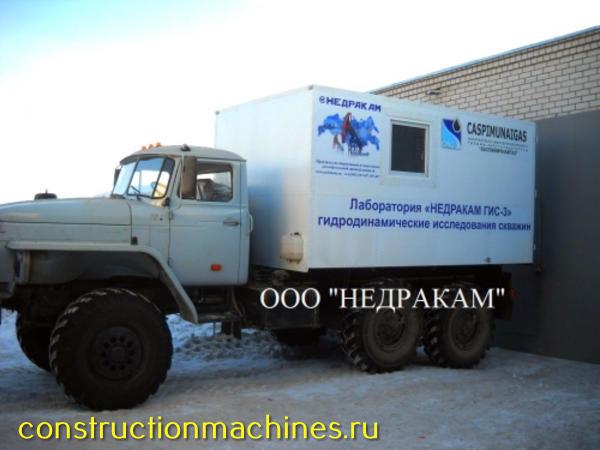 АИС мобильная лаборатория подъемник гидродинамических геофизических исследований на шасси Урал