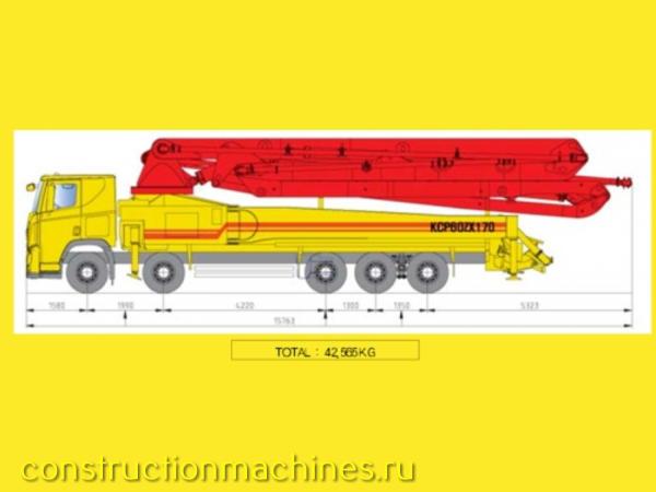 Автобетононасос KCP 60ZX170 - 58.1 метра