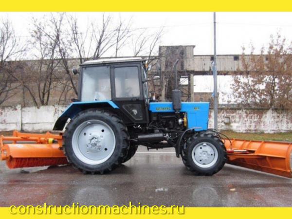 Трактор щетка, уборка снега, чистка дорог, аренда трактора
