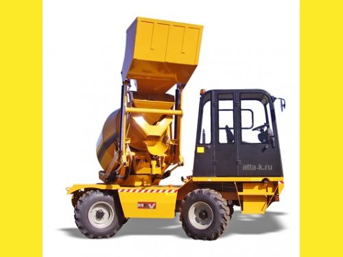 Автобетоносмеситель с самозагрузкой - мобильный бетонозавод 10 кубм/час на шасси 4х4 с крабовым ходом - MACMIX MEV3500